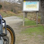 Moto e Cartello Parco dei Nebrodi