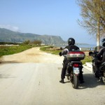 Strada bianca verso Bonagia